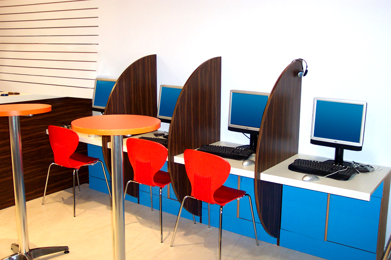 Cyber Cafe Interior Design - Interior Ideas
